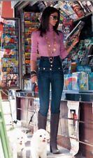 DENNY ROSE JEANS pantalone vita alta art. 4050 tg. M con swarovski