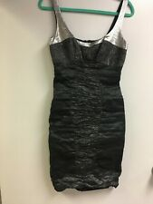 Nicole Miller, Charcoal/Silver Cocktail  Dress Size 8