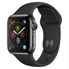 Reloj de Apple serie 4 44mm Gps + Celular 4G LTE-Acero Inoxidable-negro espacial
