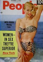Pinup Magazine 1954 Anita Ekberg Marilyin Monroe People Today Pocket V9N7 NM/M