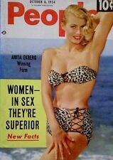 Pinup Magazine 1954 Anita Ekberg Marilyin Monroe People Today Pocket V9N7 NM/M