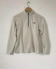 North Face Women Fleece Size Medium White 1/4 Zip Polartec Pullover