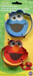 Sesame Street Wilton Metal Cookie Cutter Set 2 Pc Elmo Cookie Monster
