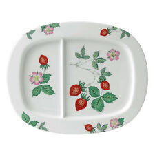 Wedgwood WILD STRAWBERRY DIVIDED Serving DISH    -NEW - MADE IN THE U.K.