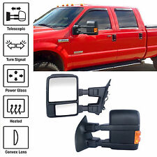 Set Towing Mirrors Power Heated Turn Signal For F250-F550 Ford 99-07 Super Duty