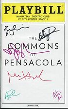 COMMONS OF PENSACOLA HAND SIGNED NYC PLAYBILL+COA    SARAH JESSICA PARKER+DANNER