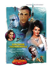 JAMES BOND THUNDERBALL LIMITED EDITION OFFICIALLY LICENSED LTHOGRAPH