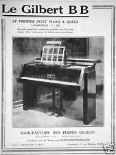 PUBLICITÉ LE GILBERT BB LE PREMIER PETIT PIANO À QUEUE