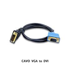 1,5 MT CÂBLE CÂBLE FIN VGA ttoo DVI CONVERTISSEUR ADAPTATEUR DVI a VGA VGA A DVI