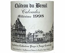 1 BOTTLE CALVADOS 1998 CHATEAU BREUIL