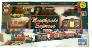 Vtg Toy State 1994 Northpole Express Christmas Battery Operated Train Set 5306