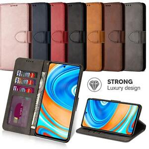 For Xiaomi Redmi Note 9 Pro Case Leather Flip Wallet Cover Protection HeavyDuty