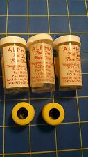 Alpha A15 3 Pairs .760 tall 3/32 axle Yellow Colored Rubber from Mid America