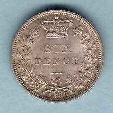 New listing Great Britain. 1883 Sixpence. Full Lustre - Unc/Bu