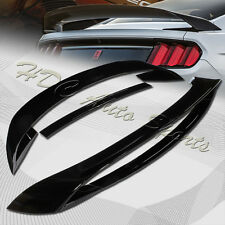 For 2015-2017 Ford Mustang GT350R Style Painted Black Rear Trunk Spoiler Wing