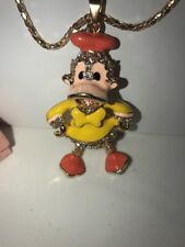 Betsey Johnson Necklace DONALD DUCK  Yellow Gold  QUACK QUACK SOOO Cute