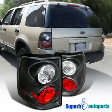 For 2002-2005 Ford Explorer Replacement Tail Lamps Brake Lights Black