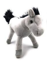 Plüschtier Kuscheltier Stoff Tier Pferd grau stehend 25 cm