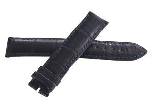 Chronoswiss 18mm x 18mm Bleu Foncé Alligator Cuir Homme Montre Bande