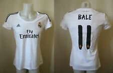 5+/5 Ladies Real Madrid #11 Bale 2013/2014 home Sz L soccer shirt jersey Womens