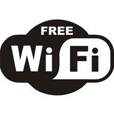 Adesivo FREE WI-FI sticker wifi libera vetrina vetrofania negozio pub bar NERO