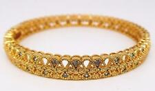 Ladies 14ct 9ct Yellow Gold GF 62mm Bow Tie Filigree Solid Bangle Bracelet