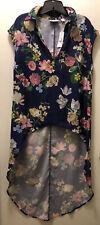 Sweet Pea NY&C Long Floral Dress Shirt, Medium