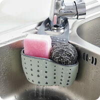 1 PC Kitchen Sucker Storage Basket Sink Holder Sapone Spugna Scarico Rack NEU.