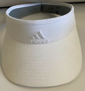 Adidas Climalite Visor Cap Hat One Size Stretch Fit White