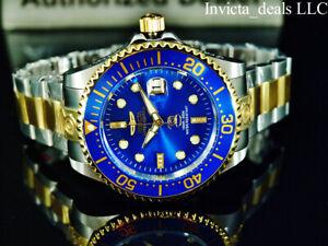 NEW Invicta Men's 47mm Grand Diver Automatic DIAMOND BLUE DIAL Two Tone SS Watch