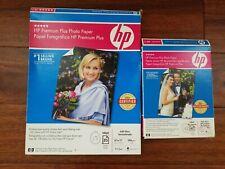 HP Premium Plus 5x7 High Gloss Photo Paper & 8.5x11 Soft Gloss Photo Papers Lot