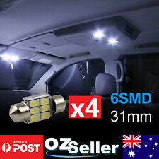 4 x 31mm 5630SMD 6LED Canbus Car Interior Map Dome Festoon Light White Brightest