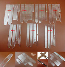 7sets 7size Leathercraft Acrylic Straight Watch Strap Band Stencil Template Tool
