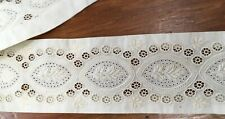 """45 1/4"""" VINTAGE LACE 2"""" WIDE OFF WHITE"""