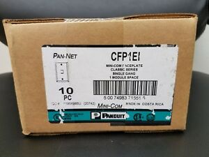 NEW! - Panduit CFP1EI Single gang, Faceplate, Ivory (10 Pcs per box)