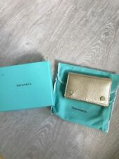 New Tiffany & Co. Gold Metallic Leather 6 Ring Key Holder Wallet. Gift Ready!