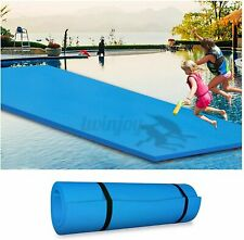 """4-Layer Floating Water Foam Mat Pads 87x26"""" Floats Island Pool Lake Relaxing US"""