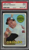 1969 Topps #550 Brooks Robinson Orioles HOF Card - PSA 9 - MINT - 25041391 - SCA