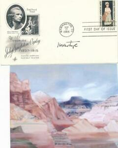 Martyl Langsdorf- (Painted Doomsday Clock) Signed FDC