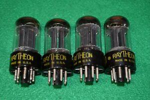6SN7GTB Raytheon Audio Receiver Guitar Vacuum Tubes Tested Quad