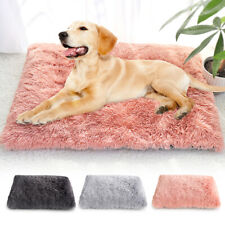 Soft Plush Pet Mat Dog Bed Cushion W/Removable Cover Mattress Washable Crate Pad