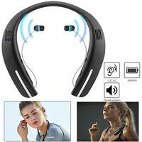 Super Bass BT Headset Dual-Speakers Wireless Sport Neckband Headphones