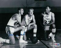 Jerry West Signed 8X10 Autograph Photo Lakers Vintage w/Baylor & Nash PSA/DNA