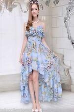 Summer/Beach Asymmetrical Hem Floral Regular Dresses for Women