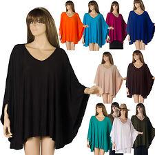 Tunique Grande Taille unique 44 46 48 50 52 54 Haut Blouse Femme Style Poncho