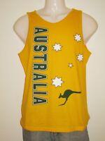 Australian Souvenir Fan Supporter Singlet Tank Men / Women 100% Cotton