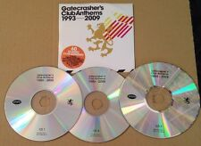 Gatecrasher's Club Anthems 1993-2009 UK Triple Promo 60 Track Cd Ultra Rare!