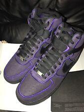 Genuine Nike 1 alta Air Force 07 Nero Tribunale Scarpe Da Ginnastica Viola