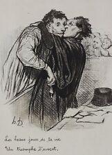 Honore Daumier France 1808 -1879 Lithograph Les beaux jours de la vie