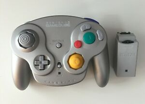 Genuine Nintendo GameCube Wavebird Wireless Controller Platinum Silver W/ Dongle